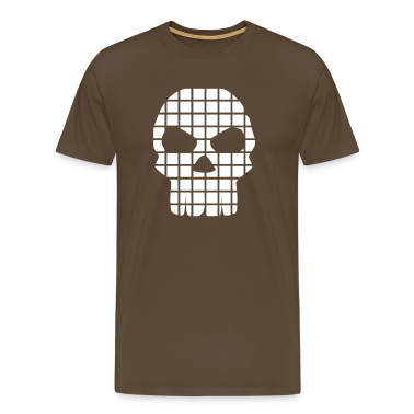 Brown Skull Men's Tees (short-sleeved)