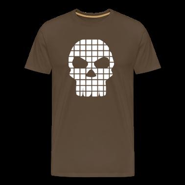 Brown Skull Men's Tees (short-sleeved)
