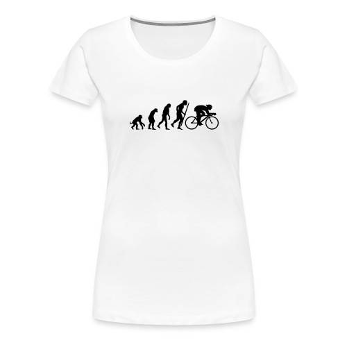 evolution of biking - Women's Premium T-Shirt
