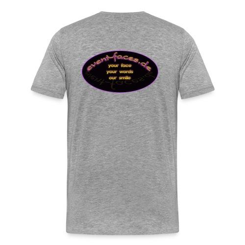 Event-Faces Shirt - grau - Männer Premium T-Shirt