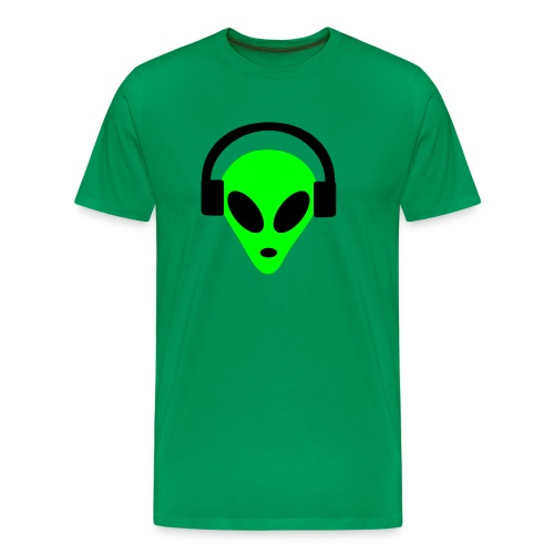 DJ Headphones Alien green - Männer Premium T-Shirt
