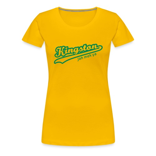 Kingston Tee (Yellow) Womens - Women's Premium T-Shirt
