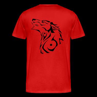 T-shirt Homme M/C avec Loup tribal