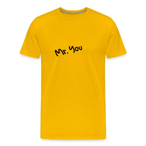 mr. you yellow - Männer Premium T-Shirt