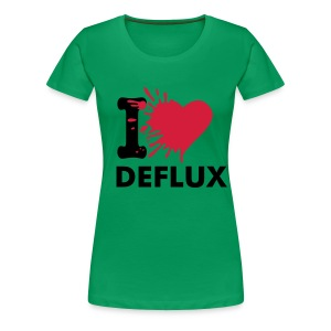 I Love Deflux girly - Women's Premium T-Shirt