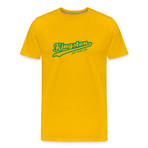 Kingston Tee (Yellow) Mens - Men's Premium T-Shirt