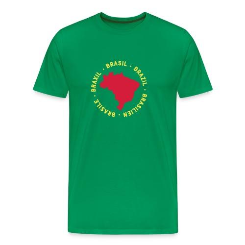 Brasile map - verde - Maglietta Premium da uomo