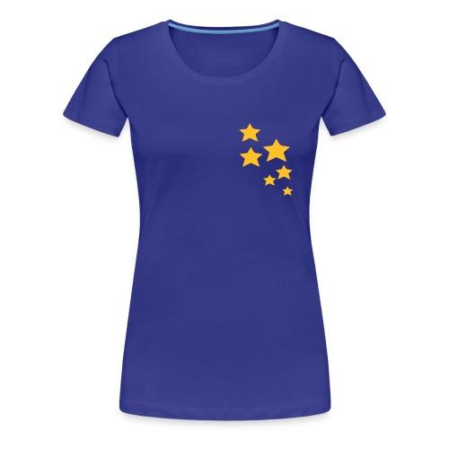 Orange Stars - Frauen Premium T-Shirt