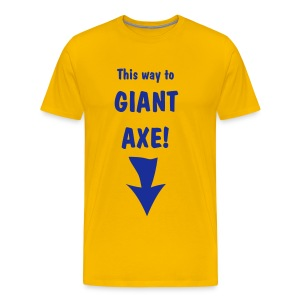 Giant Axe Tee (blue on yellow) - Men's Premium T-Shirt