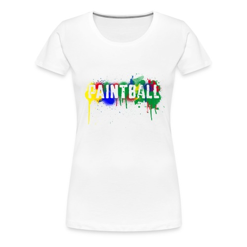 Paintball - Women's Premium T-Shirt