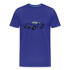 Chimaera sports car Blue T-Shirt - Men's Premium T-Shirt