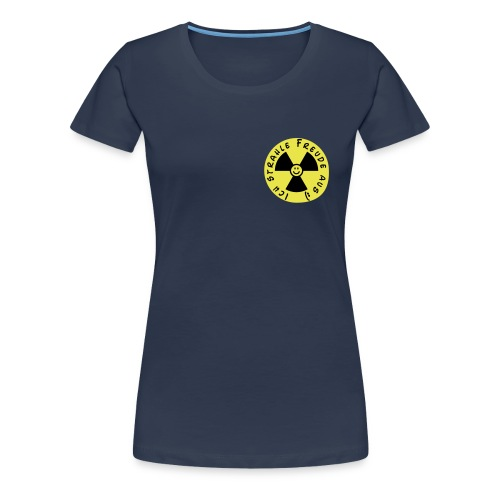 Warnung: Ich strahle Freude aus! - Frauen Premium T-Shirt