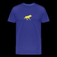 T-Shirts ~ Männer Premium T-Shirt ~ Elchshirt Comfort, blau-gelb, Schweden-t-shirt