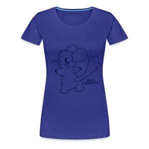 Girlieshirt blau mit Comic Chinchilla  - Frauen Premium T-Shirt