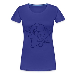 Girlieshirt blau mit Comic Chinchilla  - Frauen Premium T-Shirt