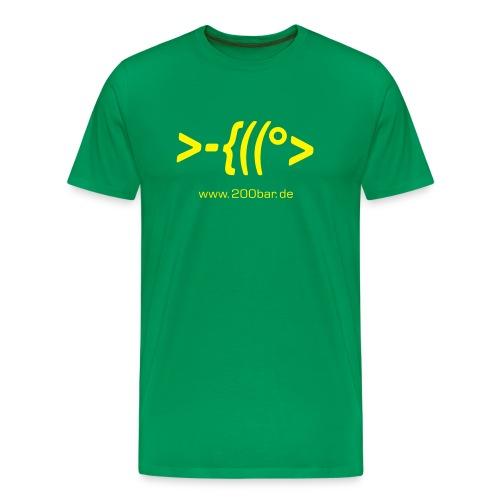 200bar.de Shirt Moosgrün - Männer Premium T-Shirt
