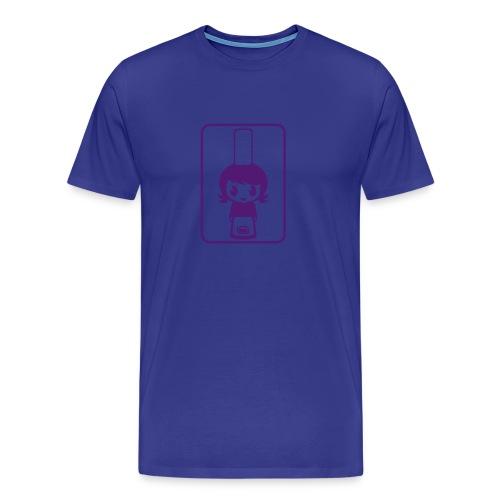 Bigoudène - Bleu ciel/lilas - T-shirt Premium Homme