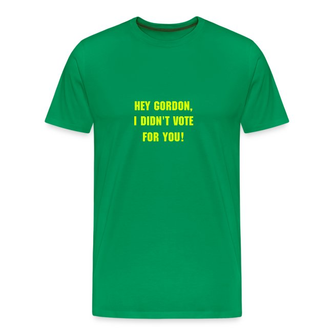 GB T I didn't vote for you - Men's Classic T