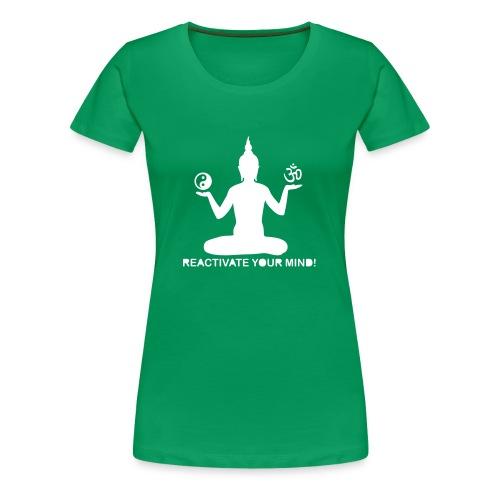 reactivateyourmind04 T-Shirt (f) vert - T-shirt Premium Femme