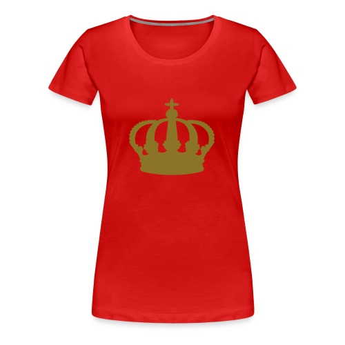 Red Shirt Golden Crown - Frauen Premium T-Shirt