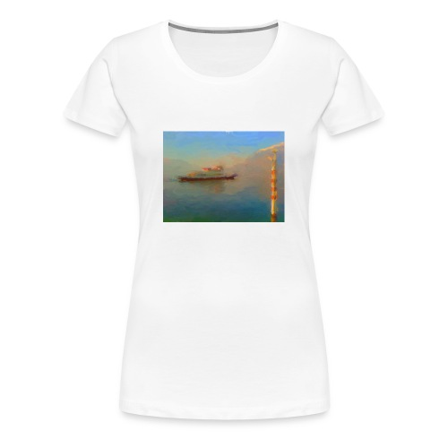 Lake Como ferry - Women's Premium T-Shirt
