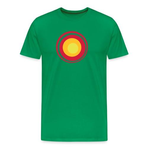 Verde hierba rojo sun - Camiseta premium hombre