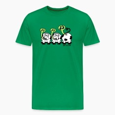 Khaki green Singing Cows Men's Tees
