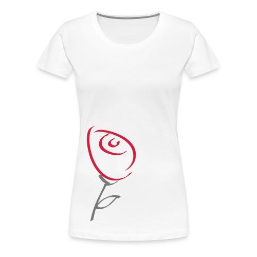 Rose (gross) Frauen Girlieshirt klassisch - Frauen Premium T-Shirt