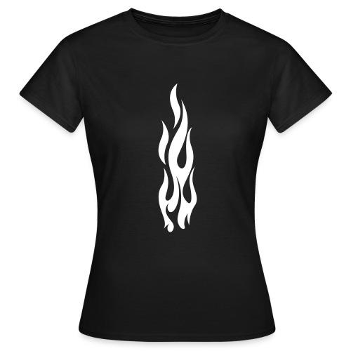 Flames (white) - Women's T-Shirt