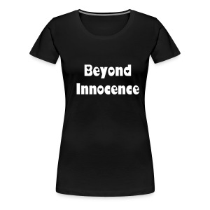 Beyond Innocence heart design womans skinny (black) - Women's Premium T-Shirt