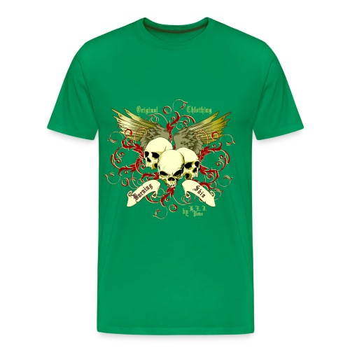 BurningSkin-Skulls - Männer Premium T-Shirt