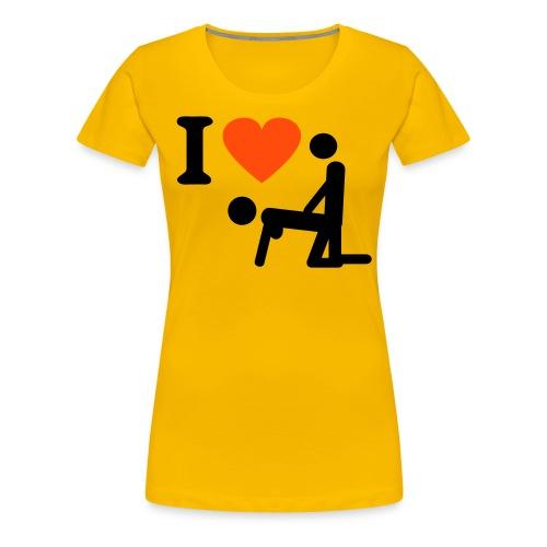 I Love Doggy Style - Vrouwen Premium T-shirt