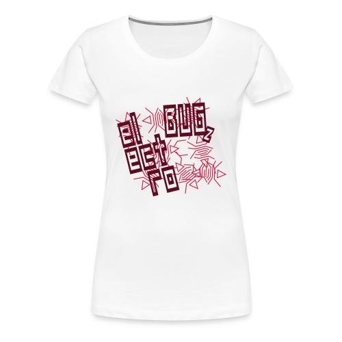 Weiß electro bugz v1 (© alteerian) T-Shirts - Frauen Premium T-Shirt