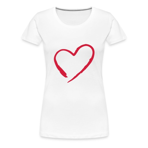 The heart of circle - Dame premium T-shirt