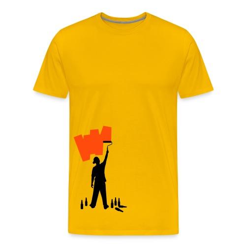 Schilder Shirt (kies je kleur) - Mannen Premium T-shirt
