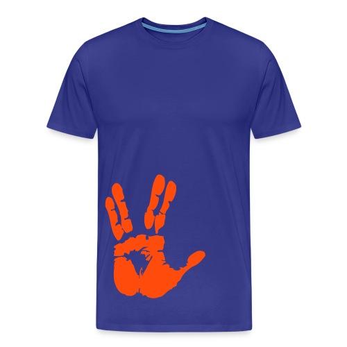 Hand - Premium-T-shirt herr