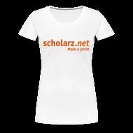 T-Shirts ~ Frauen Premium T-Shirt ~ scholarz.net - Girlie Weiß