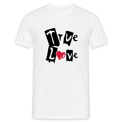 True Love (black & red) - Men's T-Shirt
