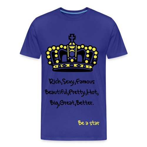 be a star couronne homme - T-shirt Premium Homme