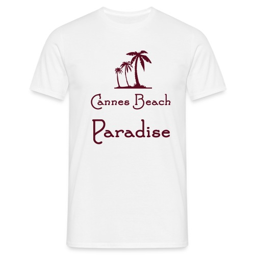 cannes beach paradise - T-shirt Homme