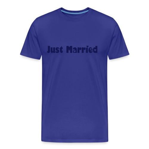 Just Married - Front Print Only - Men's Premium T-Shirt