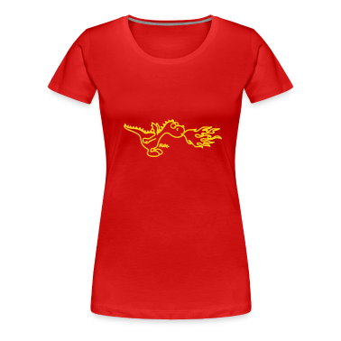 Red little fire dragon Women's T-Shirts