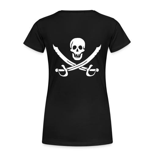 Piratenshirt Frau Weiß-Schwarz - Frauen Premium T-Shirt