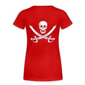 Piratenshirt Frau Weiß-Rot - Frauen Premium T-Shirt