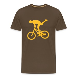 One Foot Brown/Yellow - T-shirt Premium Homme