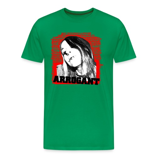 Arrogant - khaki shirt - Männer Premium T-Shirt