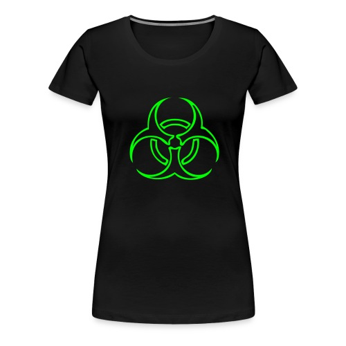 Biohazard Lines - Neongrön - Premium-T-shirt dam