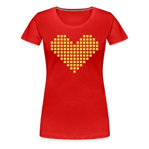 yellow heart - Women's Premium T-Shirt