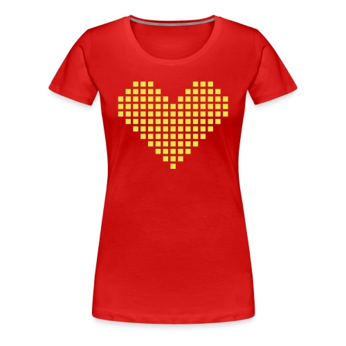 yellow heart - Women's Premium T-Shirt