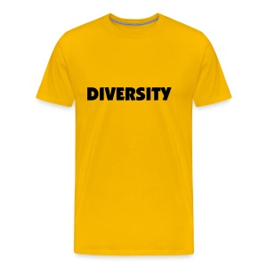 Yellow T-Shirt with Black Text - Men's Premium T-Shirt